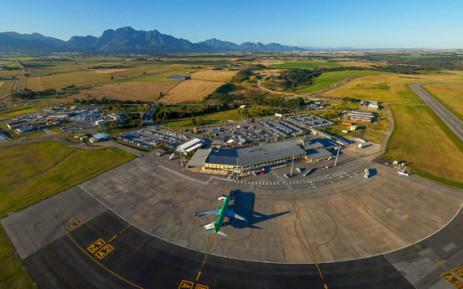 An aerial view of George Airport in George, Western Cape. Picture: @GeorgeAirport/Facebook.