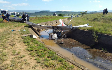 The plane apparently started losing altitude between Barberton and Badplaas and the pilot was forced to land. Picture: ER24