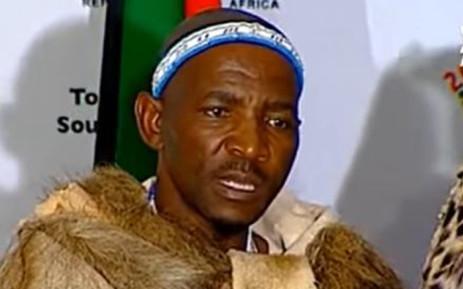 YouTube Screengrab of amaXhosa King Mpendulo Zwelonke Sigcawu. Picture: Screengrab
