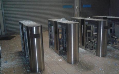 Vandalism of Prasa property at Naledi Train Station. Picture: Supplied.