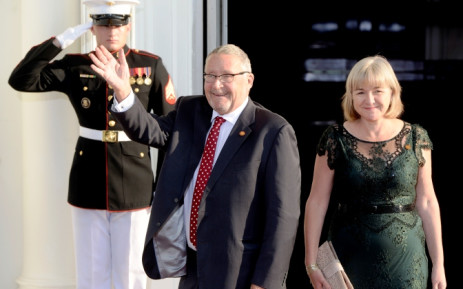 Guy Scott (L) and his spouse Charlotte Scott (R) arrive at the North Portico of the White House, in Washington DC, USA, 5 August 2014. Picture: EPA/MICHAEL REYNOLDS