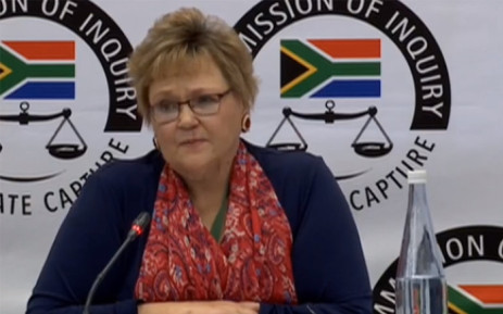 A YouTube screengrab of Treasury's former deputy director-general in the Free State, Anna Sussana Fourie, giving evidence at the state capture inquiry on 12 August 2019.