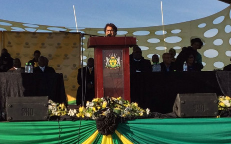 African National Congress Deputy Secretary General, Jessie Duarte, delivering a tribute on behalf of the party's national executive committee at the funeral service of Joy Matshoge on 2 July 2016. Picture: @ANCWomensLeague