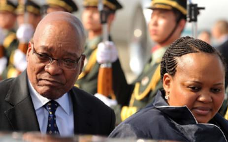 FILE: President Jacob Zuma accompanied by his wife MaNtuli arrive at Sanya Phoenix International Airport in China. Picture: Elmond Jiyane/GCIS