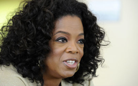 US talk show queen Oprah Winfrey answers to journalist's questions at her South African girls' academy on January 13, 2012 in Henley on Klip. Winfrey founded the $40-million school for girls in 2007. Picture: AFP.