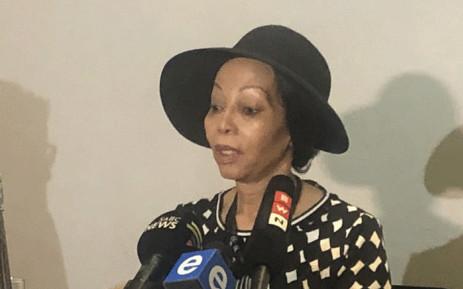 Bridgette Motsepe-Radebe at a press briefing on 31 October 2019. Picture: Nthakoana Ngatane/EWN