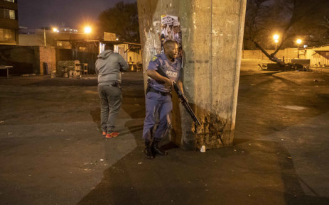 Police storm Mai Mai in Jeppestown, Johannesburg chasing after looters on 2 September 2019. Picture: Thomas Holder/EWN