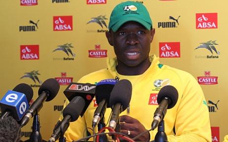Bafana Bafana Interim Coach Steve Komphela. Picture: Taurai Maduna/EWN.