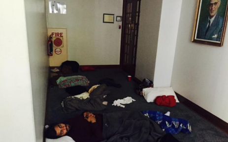 Students spent the night in the Bremner building as part of the ongoing protest. Picture: Masa Kekana/EWN