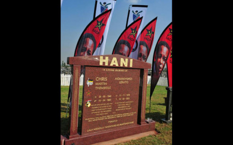 The unveiling of a plaque on the declaration of the grave of Chris Hani & Chris Hani Memorial as a National Heritage Site. Picture: @GovernmentZA.