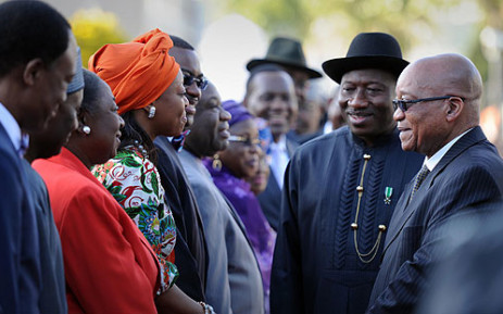 President Jacob Zuma welcomes Nigerian President Goodluck Jonathan at Tuynhuys in Cape Town on 7 May 2013. Picture: GCIS