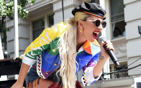 Lady Gaga speaks onstage during Pride Live's 2019 Stonewall Day on 28 June 2019 in New York City. Picture: AFP