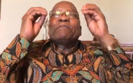 FILE: A screengrab of Jacob Zuma making a point in his Twitter video on 2 January 2019.