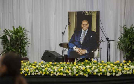 The funeral service of Dr Richard Maponya at the University of Johannesburg Soweto Campus. Picture: Abigail Javier/EWN