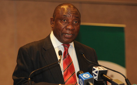 Deputy President Cyril Ramaphosa addressing the Labour Relations Indaba at the Emperors Palace in Kempton Park,Johannesburg on 04 November 2014. Picture: GCIS.