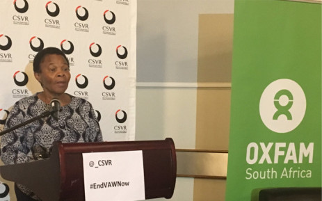 FILE: Minister Responsible for Women in the Presidency Susan Shabangu launched a new report by the Centre for the Study of Violence and Reconciliation along with Oxfam in Johannesburg on Wednesday 30 August 2017. Picture: Thando Kubheka/EWN.