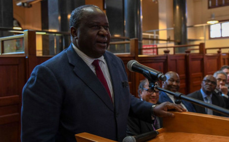 Finance Minister Tito Mboweni addresses National Treasury staff on 11 October 2018. Picture: @TreasuryRSA/Twitter