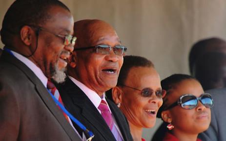 ANC Secretary General Gwede Mantashe, President Jacob Zuma, Limpho Hani and Lindiwe Hani at a ceremony to remember Chris Hani's assassination 20 years ago. Picture: GCIS.