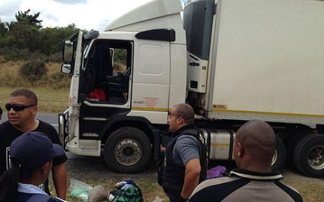 Stolen dogs were stuffed in crates in the small top section of this truck. Picture: Giovanna Gerbi/EWN.