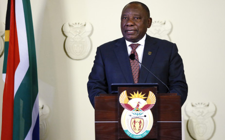 FILE: President Cyril Ramaphosa gives a press conference at the Union Buildings on 21 July 2019 in Pretoria.