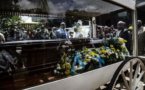 FILE: Thorisho Themane's casket at his funeral. Picture: Kayleen Morgan/EWN