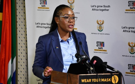 FILE: Auditor-General Tsakani Maluleke on 9 December 2020 delivered the second COVID-19 relief fund audit report in Pretoria. Picture: @SAgovnews/Twitter.