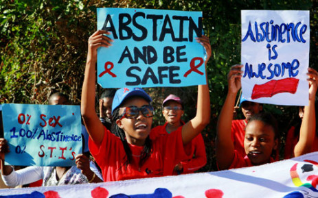 "FILE: Students participate in an ""Abstinence Walk"" to commemorate Women's Day in Durban on Thursday, 9 August 2012. Picture: Sapa."