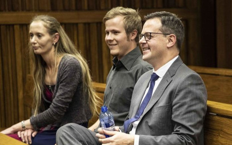 AfriForum's Ernst Roets (R) in Johannesburg High Court. An urgent application against Roets that found him in contempt of court was dismissed. Picture: Abigail Javier/EWN