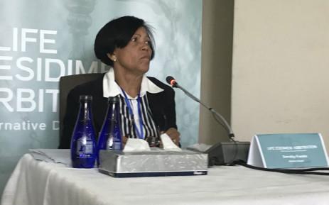 Anchor House founder Dorothy Franks gives evidence at the Life Esidimeni hearing in Johannesburg on 30 October 2017. Picture: Masego Rahlaga/EWN