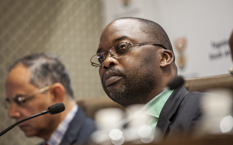FILE: Justice Minister Michael Masutha addresses the media at the GCIS head office in Pretoria on 21 October 2016 to confirm South Africa's decision to withdraw from the International Crimanal Court. Picture: EWN