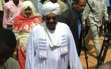 FILE: President Omar al Bashir arrives to cast his vote in Sudanese elections on 13 April 2015. Picture: Jean-Jacques Cornish/EWN.
