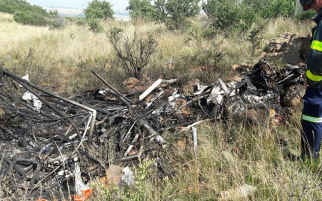 A man has been killed in a microlight aircraft crash on a farm in Suikerbosrand in Meyerton. Picture: Twitter @ER24EMS.