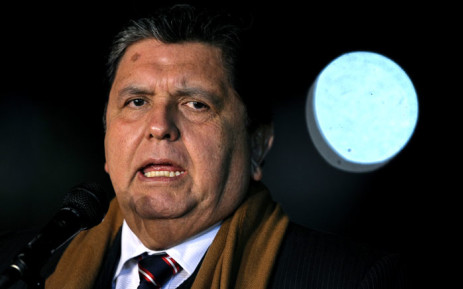 In this file photo taken on 30 September 2010 former Peruvian President Alan Garcia gestures as he speaks upon his arrival at the military airport in Buenos Aires. Picture: AFP