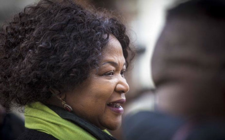 Baleka Mbete and Dali Tambo chat at Nasrec during the ANC National Policy Conference. Picture: Thomas Holder/EWN
