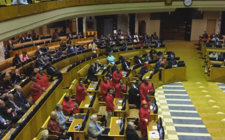 FILE: Economic Freedom Fighters (EFF) in Parliament. Picture: Screengrab.