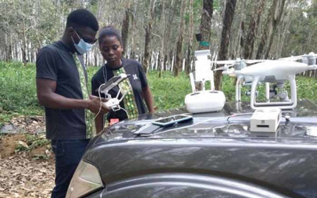 Drones are assisting farmers in Côte d'Ivoire to map and monitor their land from afar. Picture: WeFly Agri