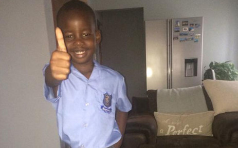 THUMBS UP: Mothusi is ready to get the 2015 school year underway. Picture: Ngwako R via Twitter