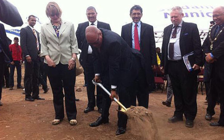 President Jacob Zuma and Premier Helen Zille attended the launch of the Industrial Development Zone. Picture: Siyabonga Sesant/EWN