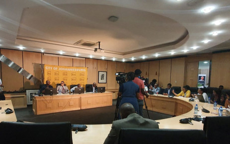 The City of Joburg briefs the media on 28 October 2019 on the progress made in restoring its IT system following a cyber attack last week. Picture: @CityofJoburgZA/Twitter