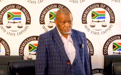 African National Congress chairperson Gwede Mantashe testified at the state capture commission on 19 April 2021. Picture: YouTube screengrab/SABC.