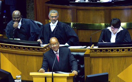 FILE: President Jacob Zuma responding to questions for Oral Reply in the National Assembly in Parliament. Picture: GCIS.