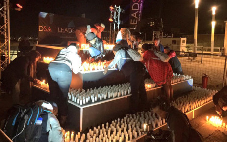FILE: LeadSA's Yusuf Abramjee led the lighting of the candles at the #LeadSAVigil last night. Picture: Emily Corke/EWN.