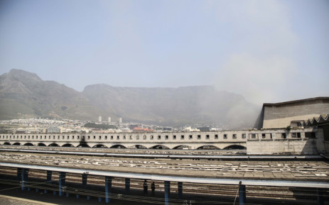 Six train carriages at platforms 17 and 18 at Cape Town station were damaged in a fire on 9 October 2018. Picture: Cindy Archillies/EWN