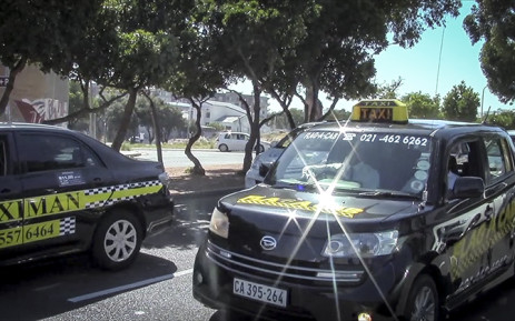 FILE: Metered taxi drivers marched through the Cape Town CBD on Thursday in protest against app-based service Uber. Picture: Thandiswa Twecu