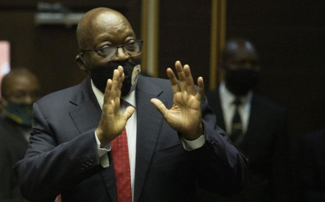 FILE: Former South African President Jacob Zuma appears at the Pietermaritzburg High Court on 23 June 2020. Picture: AFP.