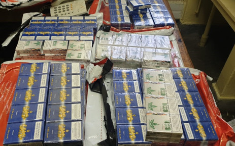 FILE: Police confiscate illicit cigarettes valued at R122,000 destined for the black market. Image: SAPS