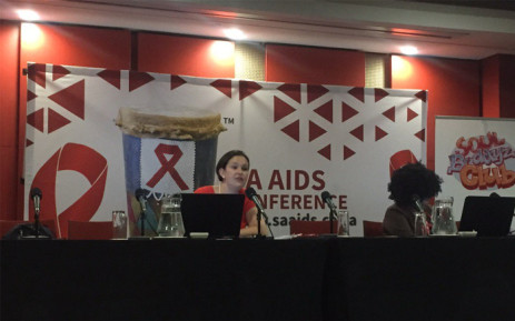 The Soul City Institute briefing attendees at the 2017 National Aids Conference in Durban on 14 June 2017. Picture: Ziyanda Ngcobo/EWN.