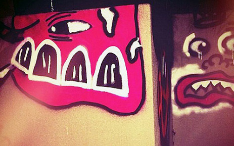 Bieber spray paints Australian hotel wall