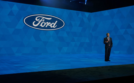 Ford President and CEO Jim Hackett speaks during day one of the 2019 North American International Auto Show 14 January 2019 at the Cobo Center in Detroit, Michigan. Picture: AFP