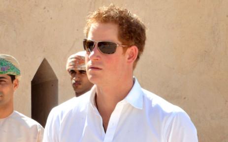 FILE: Britain's Prince Harry in Oman in November 2014. Picture: EPA.